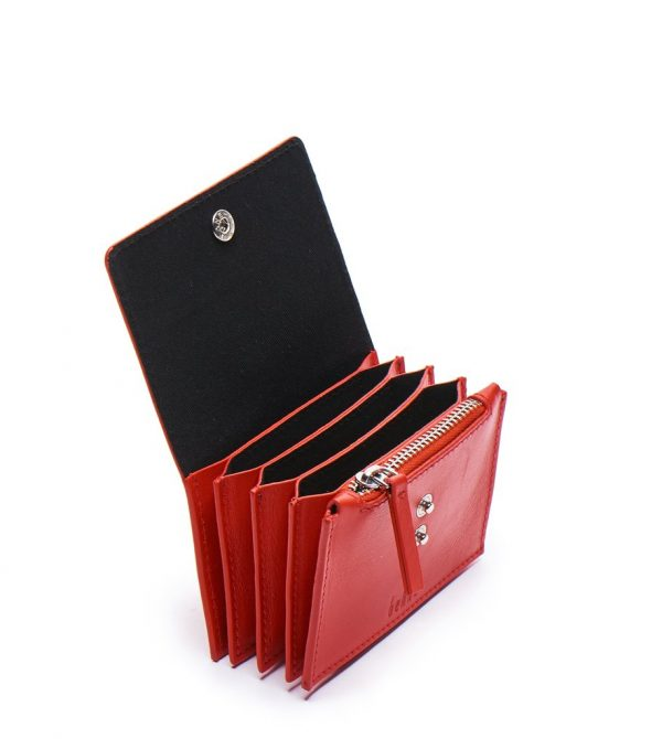 WHITNEY WALLET NAPPA RED