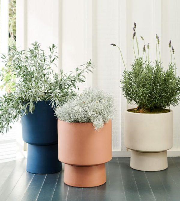 Bishop Indoor/Outdoor Pedestal Planters