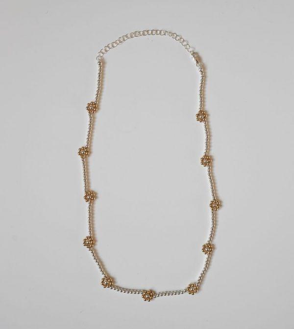 Bloom Necklace silver by Bagatiba