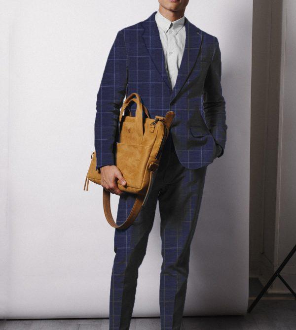 Classic Suit – Blue Windowpane