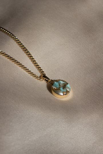 Turquoise + Pearl Confetti Charm