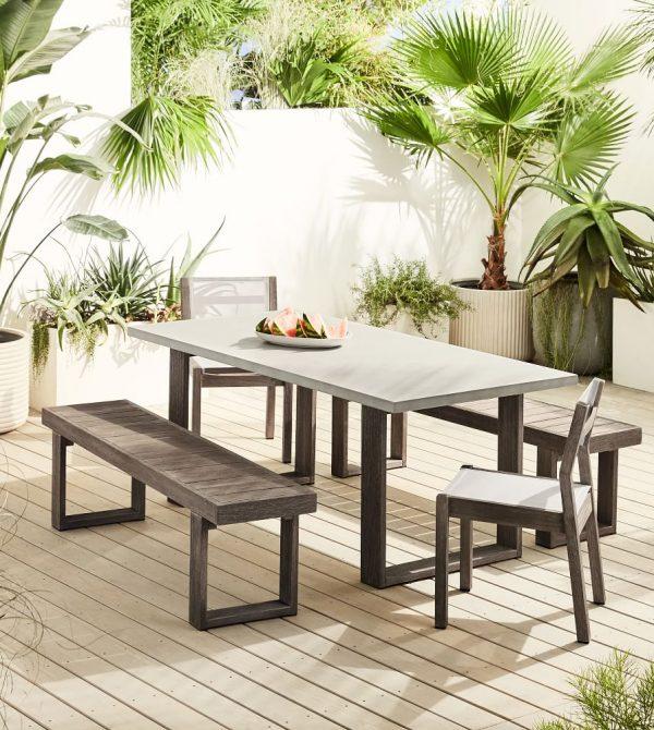 Portside Concrete Outdoor Dining Set