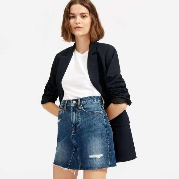 The Reconstructed Denim Skirt