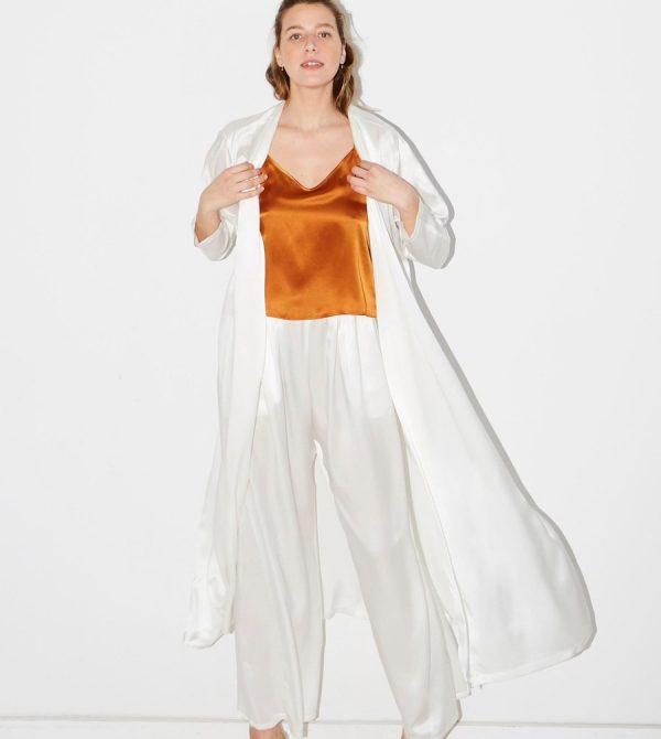 Ivory Kimono Robe