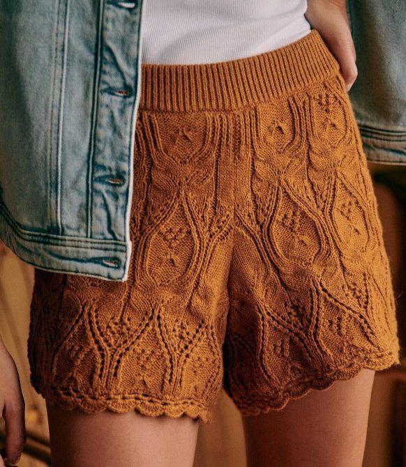 Lula Shorts – Camel – Organic Cotton – Sézane