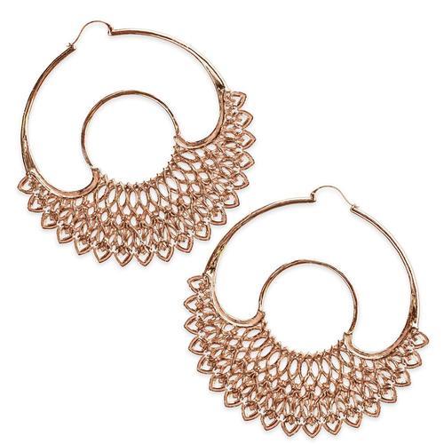 Dreamer Rose Gold Hoop Earrings