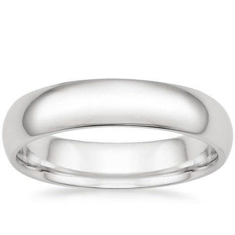 18K White Gold 5mm Comfort Fit Wedding Ring