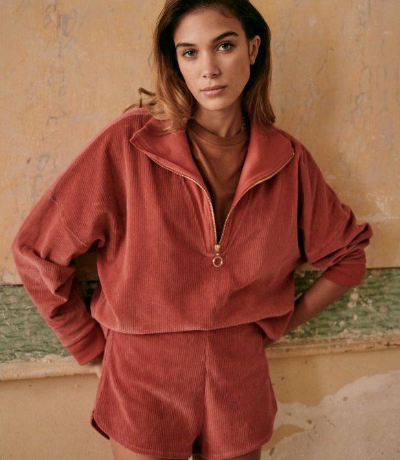 Roxanne Shorts – Pink – Organic Cotton – Sézane