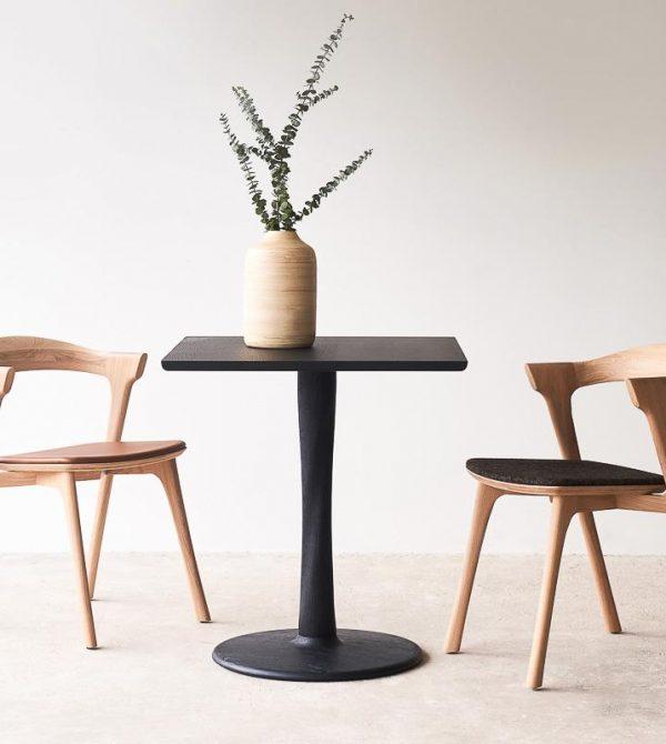 Oak Square Dining Table | Torsion Black