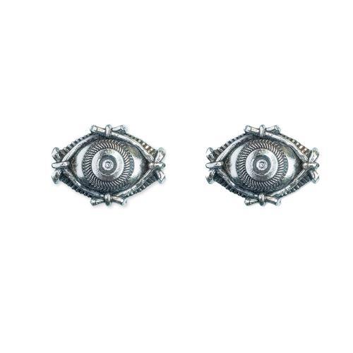 Eye Silver Stud Earrings