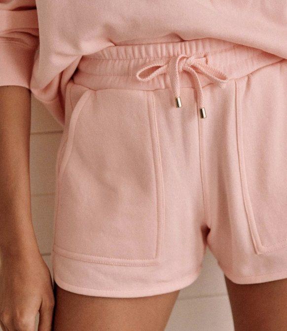 Amélia Shorts – Pastel pink – Organic Cotton – Sézane