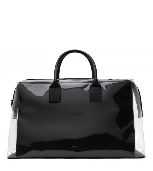 ANDROCLR Vegan Weekender Bag – Clear Black   Matt & Nat