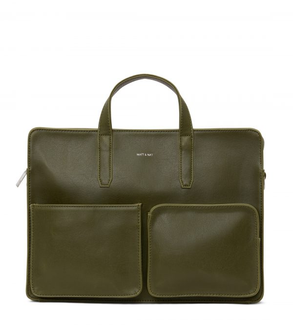 SOREN Vegan Briefcase – Olive | Matt & Nat