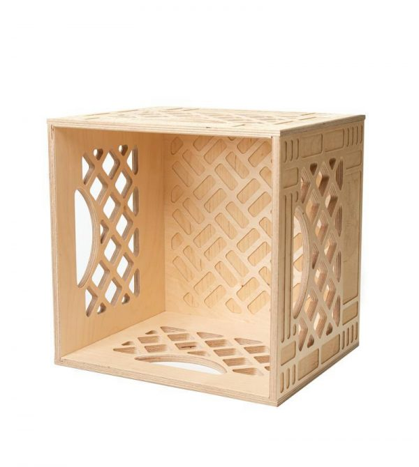 Standard Wood Milk Crate