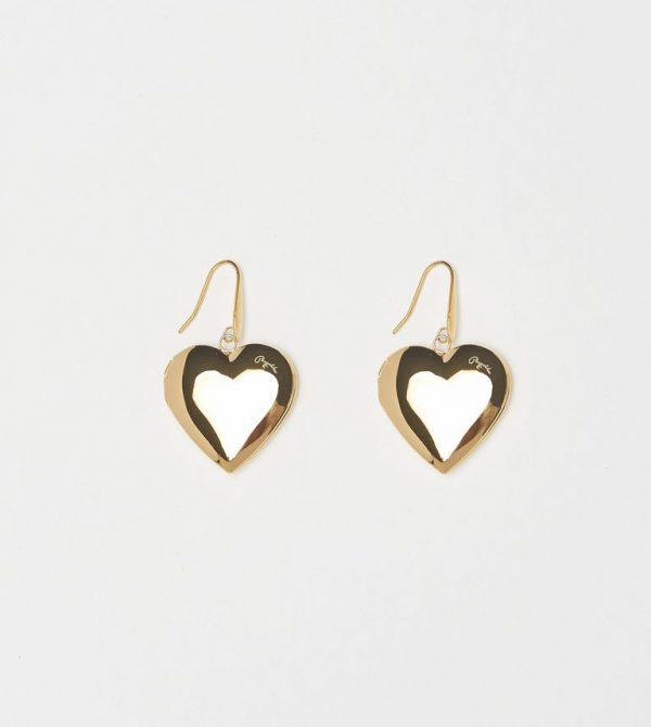Heart Locket Earrings by Bagatiba