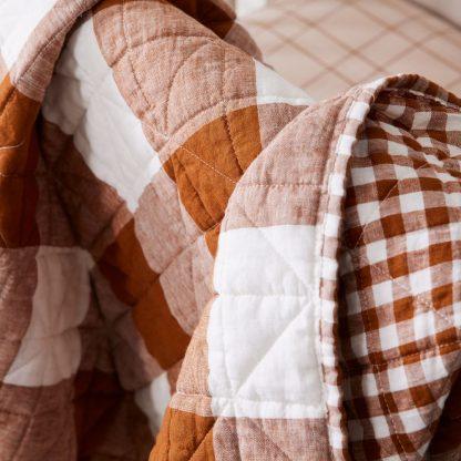 Heather Taylor Home Reversible Gingham European Linen Toddler Quilt