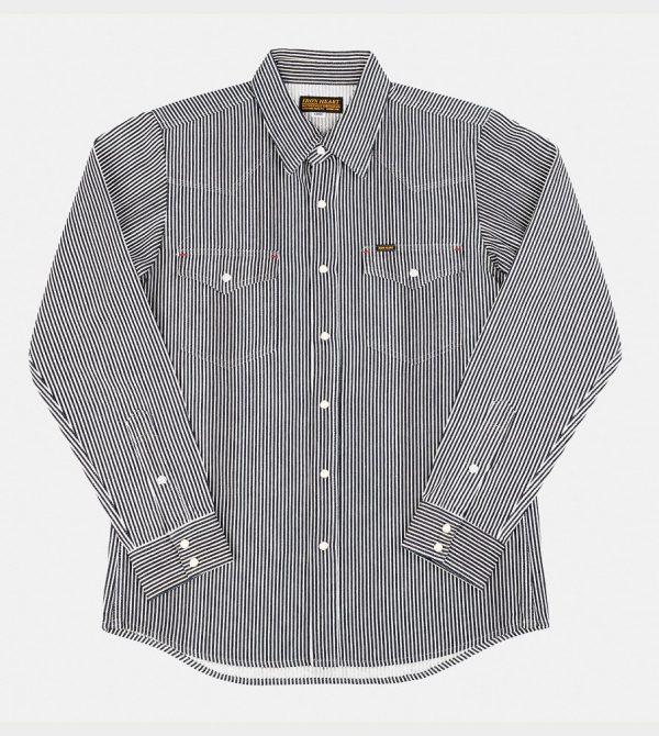 Iron Heart Japanese Hickory Stripe Western Shirt