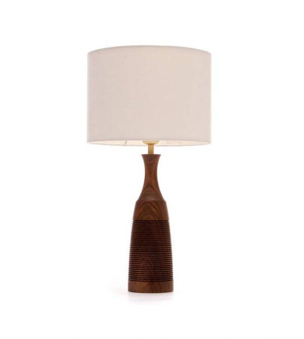 Walnut Table lamp  49cm/19 / Wooden Lamp