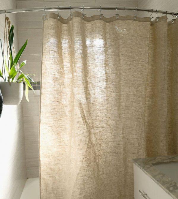 Hemp Shower Curtain  Made in USA