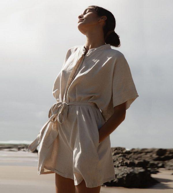Yin – Linen Playsuit