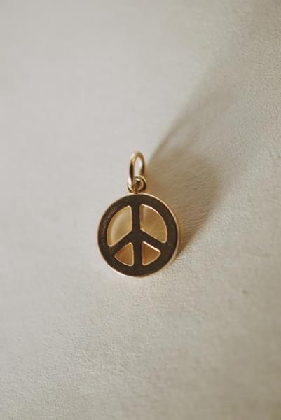 Peace Charm Pendant *made-to-order