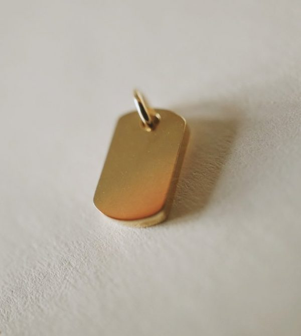 Dog Tag Charm Pendant *made-to-order