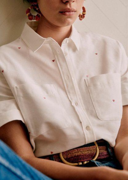 Saia Shirt - Ecru - Cotton - Sézane