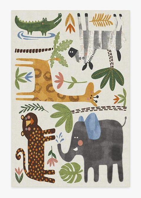 Jungle Safari Multicolor Rug