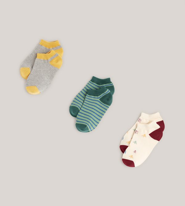 Kids Ankle Socks 3-pack made with Organic Cotton | Pact