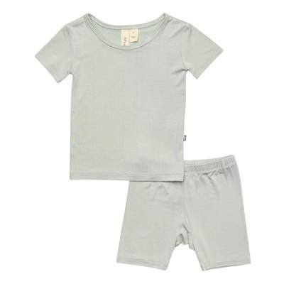 Short Sleeve Toddler Pajama Set in Sage