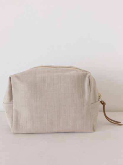 Large Natural Dye Pouch - Taupe - LAUDE the Label