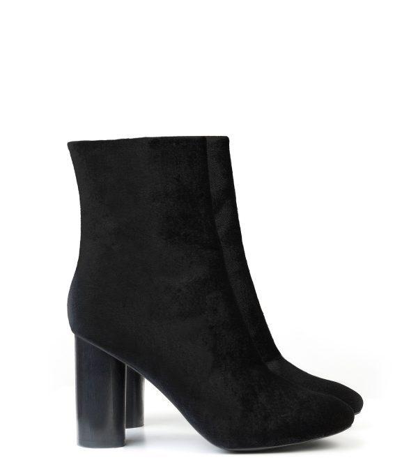 High Ankle Boot Black Velvet