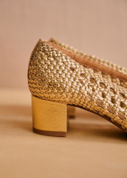 Low Laura Courts - Smooth Gold - Bovine leather - Sézane
