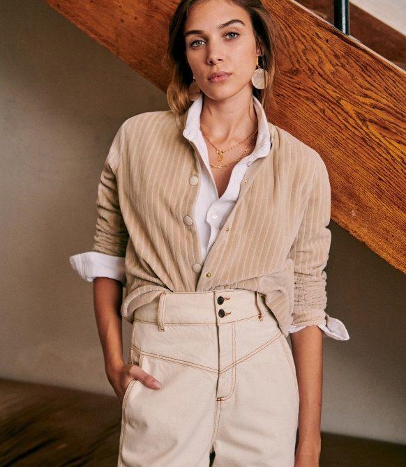 Iris Jacket – Mastic – Organic Cotton – Sézane