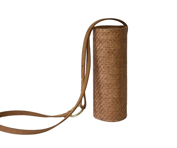 Water / Wine Bottle Holder in Meadow Raffia