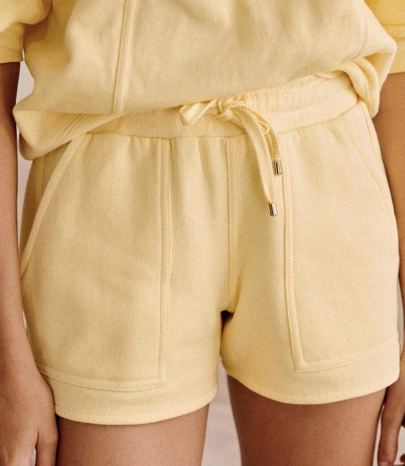 Amélia Light Yellow Organic Cotton Shorts