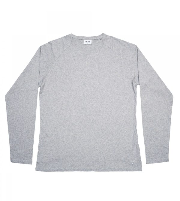 "Longsleeve ""Tender Ted"" Grey Melange – Longsleeve – Men"