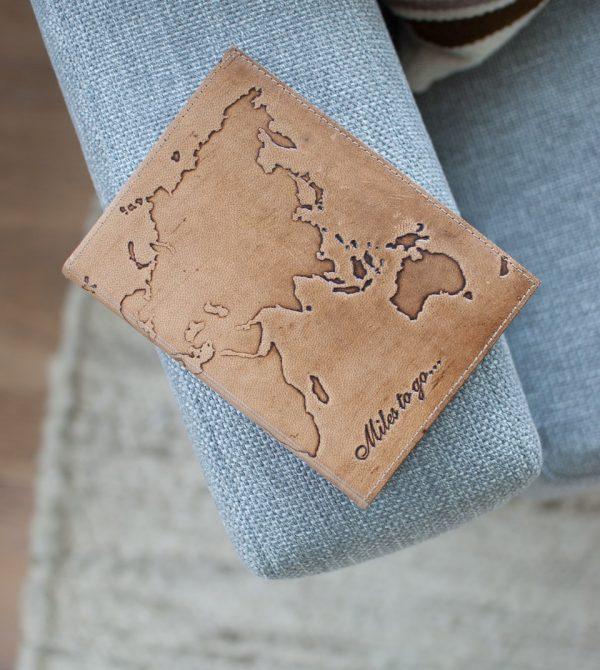 Leather Map Journal