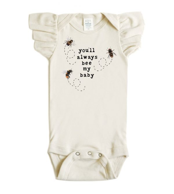 You'll Always Bee My Baby – Flutter Sleeve Snappie