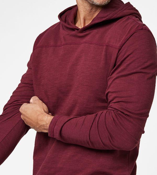 Men's Slub Pullover Hoodie Tee