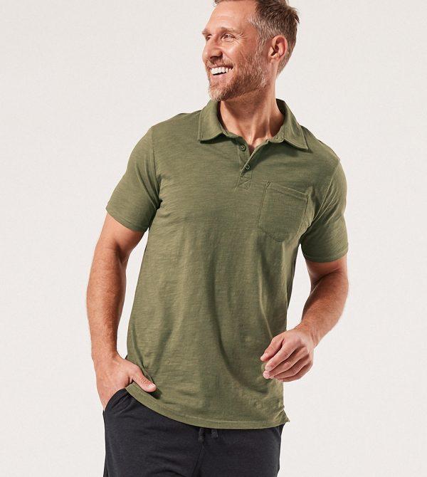 Men's Textured Slub Polo