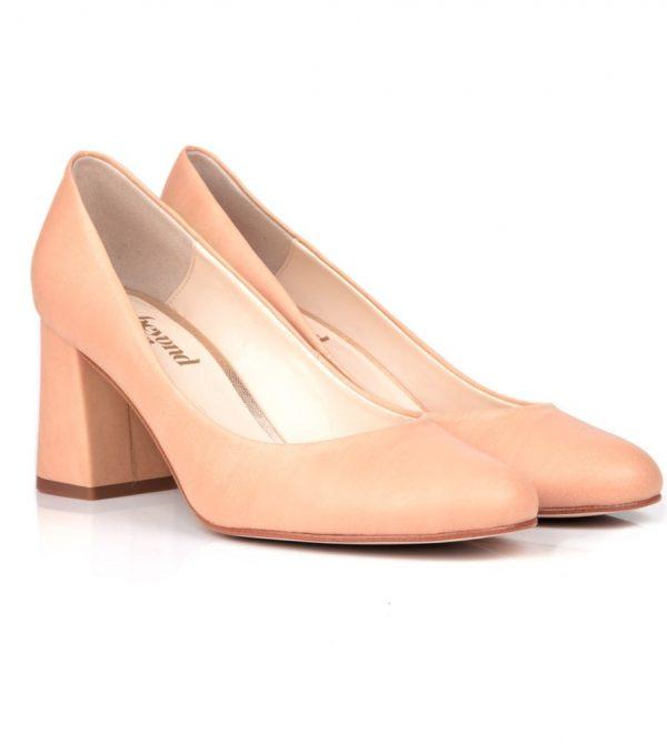 Mid Block Heel Vegan Shoes