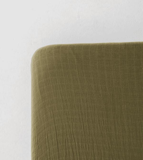Moss Green Crib Sheet