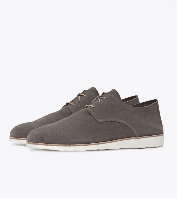 Nisolo Men's Travel Derby Slate Grey