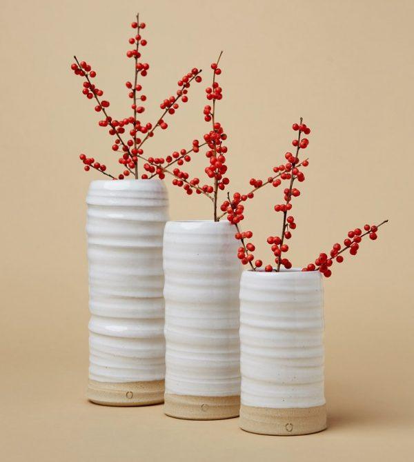 Farmhouse Pottery Trunk Vase- Large (White)
