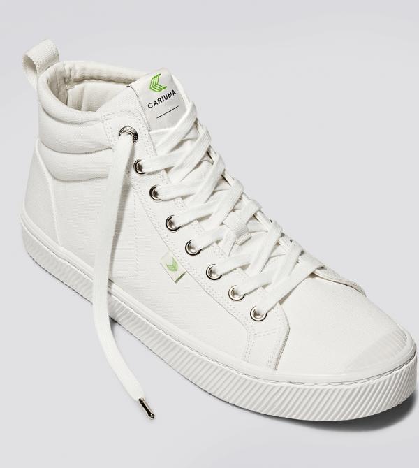 OCA High Off-White Canvas Sneaker