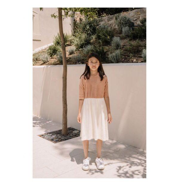Organic Cotton Dress Pale pink