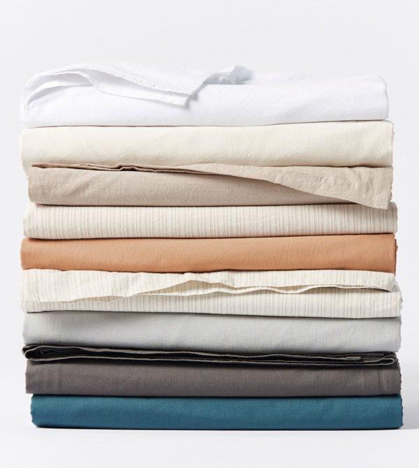 Organic Crinkled Percale™ Sheets -Coyuchi
