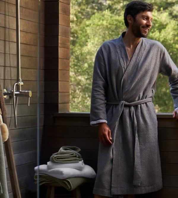 Unisex Mediterranean Organic Modern Robe