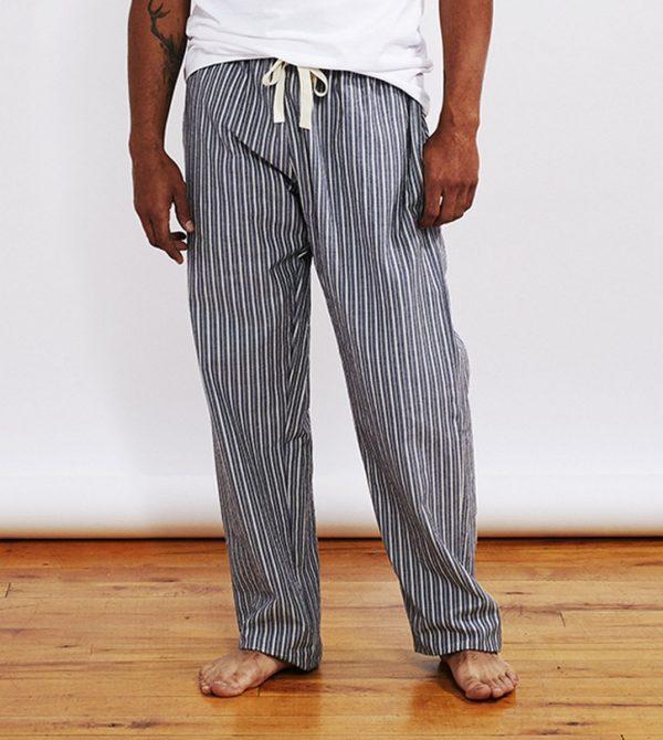 Striped Organic Crinkled Pajama Pants